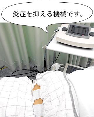 炎症を抑える機械です